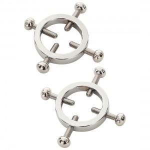 金屬十字鏍絲型乳頭鎖夾-2個
