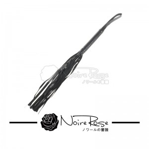 NOIRE-ROSE LEATHER WHIP