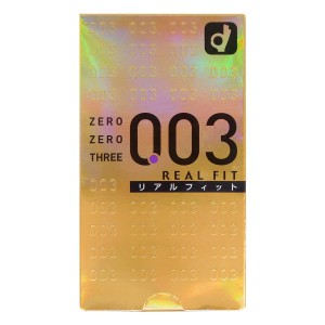 ZERO ZERO THREE 0.03 REAL FIT (JAPAN EDITION) 10'S PACK LATEX CONDOM