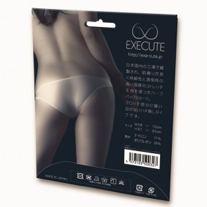 EXECUTE 超薄透視彈力短褲-白色
